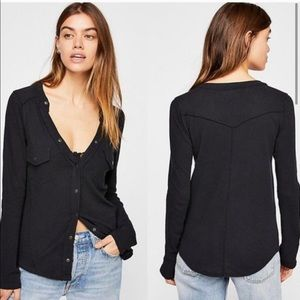 Free People | We the Free Starlight Henley Top XS